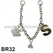 """BR32 - Bracelet With Crownheart & """"S"""" letter"""