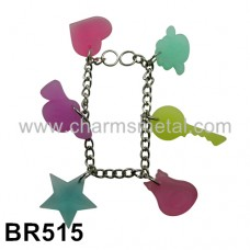 BR515 - Bracelet With Plastic Charms