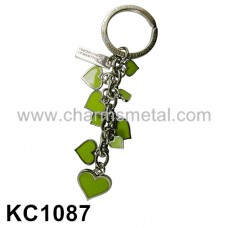 "KC1087 - ""UNITED COLOR OF BENETTON"" Heart Metal Key Chain"