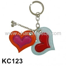 KC123 - Leather Heart Key Chain