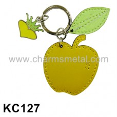 KC127 - Leather Apple Key Chain