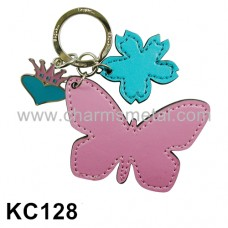 KC128 - Leather Butterfly Key Chain