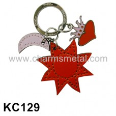 KC129 - Leather Sun Key Chain