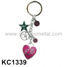 "KC1339 - ""rb"" Metal Key Chain With Enamel"