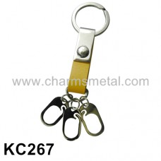 KC267 - Leather With Metal Hooks Key Chain