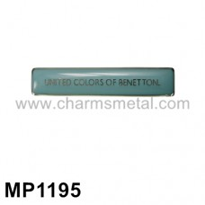 "MP1195 - ""UNITED COLORS OF BENETTON"" Metal Plate With Enamel"